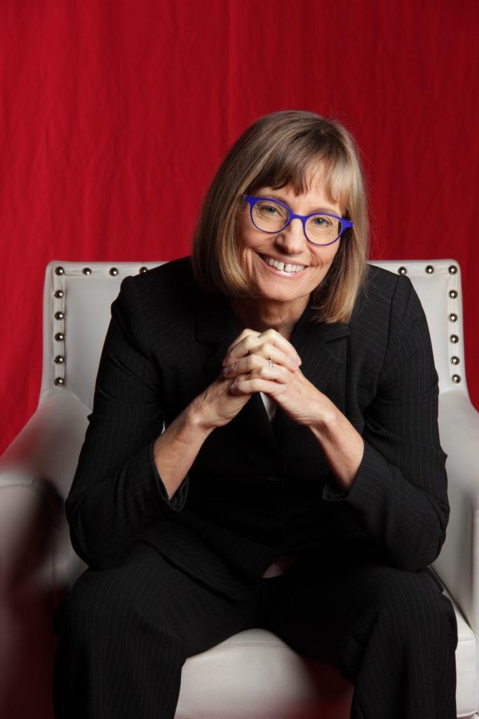 Elizabeth Keating seated