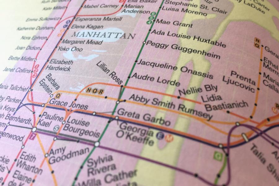 Rebecca Solnit Women Subway Map.Mapping The Metropolis City Of Women Uc Press Blog
