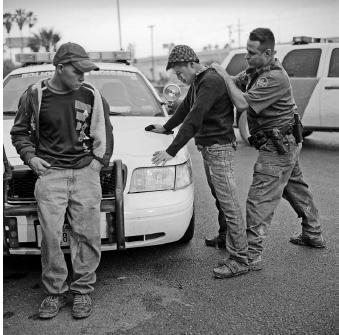 U.S. Border Patrol apprehension of migrants, Rio Grande Valley Sector near McAllen, Texas. Photo by Michelle Frankfurter.