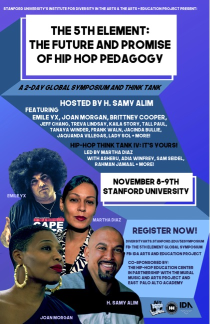 Flier for The Fifth Element Hip Hop Pedagogy Symposium and Think Tank